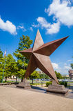 Texas Star na frente de Bob Bullock Texas State History Museu foto de stock