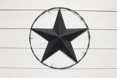 Texas Star preto imagem de stock