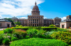 Texas State Capital Building Spring Flowers Austin Royalty Free Stock Photography