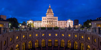 Texas State Capitol Building in Austin, TX. At twilight royalty free stock image