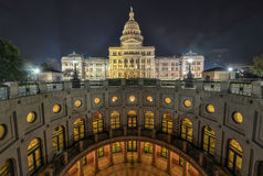 Texas State Capitol Building Extension, nuit Image stock