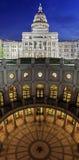 Texas State Capitol Building na noite em Austin do centro, Texas fotos de stock royalty free