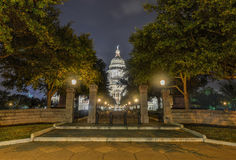 The Texas State Capitol Building, Night Stock Image