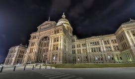 Texas State Capitol Building, notte fotografie stock libere da diritti