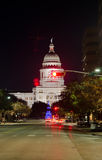 Texas State Capitol-de bouw bij nacht Royalty-vrije Stock Foto