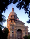 Texas State Capitol (evening). The Texas State Capitol Building, in Austin Texas, photographed in the evening stock photos