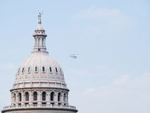 Texas State Capitol flyby Stock Image