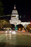 Texas State Capitol-Gebäude nachts Lizenzfreie Stockfotos