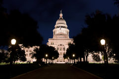 Texas State Capitol at night royalty free stock photography