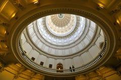 Texas State Capitol Rotunda Austin, Texas Fotografering för Bildbyråer