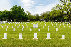 Texas State Cemetery. Unmarked graves in the Texas State Cemetery in Austin Royalty Free Stock Photo