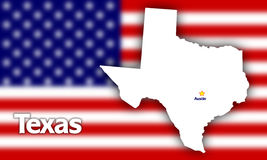 Texas state contour Royalty Free Stock Photos