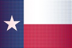 Texas State Doted Flag Background. The flag of the USA state of TEXAS with dot overlay Royalty Free Stock Photos