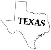 Texas State et date Photographie stock