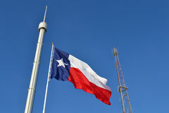 Texas State Fair Flag. The Texas flag flies proudly over the State Fair of Texas Royalty Free Stock Image
