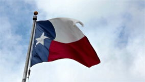 Texas State Flag stock footage