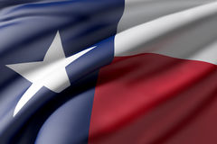 Texas State flag. 3d rendering of a Texas State flag waving Royalty Free Stock Images