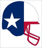 Texas State Flag Football Helmet Imagen de archivo libre de regalías