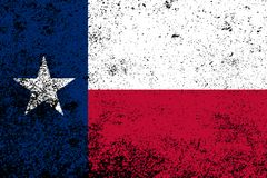Texas State Flag Grunge. The flag of the USA state of TEXAS with grunge effect Royalty Free Stock Photography