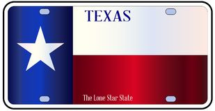 Texas State Flag License Plate illustration de vecteur