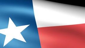 Texas State Flag Waving stock de ilustración
