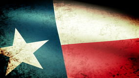 Texas State Flag Waving, grunge look stock video footage