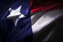 Texas state flag. The Texas state flag waving in shadow royalty free stock photography