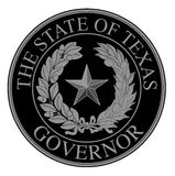 Texas State Governor Seal Immagini Stock