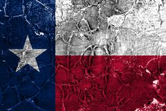 Texas state grunge flag, United States of America royalty free stock images
