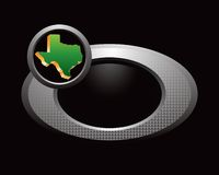 Texas state icon on silver ring Royalty Free Stock Photo