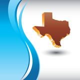 Texas state icon on vertical blue wave backdrop. Vertical blue wave background with a texas icon Stock Photo