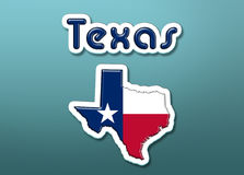 Texas state. Illustration with the flag of US state Texas Royalty Free Stock Image
