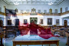 Texas State Legislature office and flag Royalty Free Stock Photography