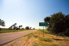 Texas state line Royalty Free Stock Photo