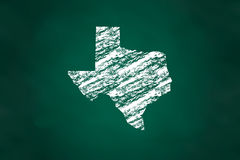 Texas State Map Chalk Style Stock Images