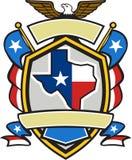 Texas State Map Flag Coat des bras rétros Photo libre de droits