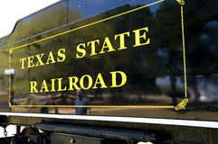 Texas state railroad car Stock Image