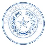 Texas State Seal illustration stock