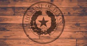 Texas State Seal Brand Illustration Libre de Droits