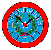 Texas State Seal Clock Images stock
