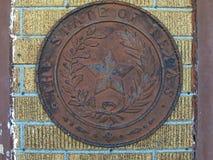 Texas State Seal On een Muur Royalty-vrije Stock Afbeelding