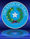 Texas State Seal Reflection Images stock