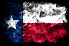 Texas state smoke flag, United States Of America.  royalty free stock image