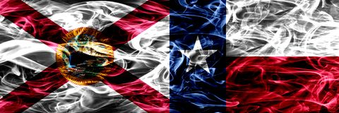 Texas state smoke flag, United States Of America.  stock photography