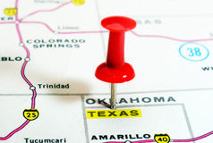 Texas   state USA map Royalty Free Stock Images