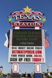 Texas Station Casino Sign em Las Vegas, nanovolt o 29 de maio de 2013 Imagens de Stock Royalty Free