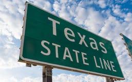 Texas statlig linje teckenmarkör royaltyfria bilder