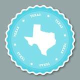 Texas sticker flat design. Stock Image