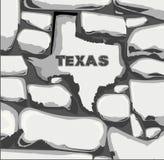 Texas Stone Wall Stock Afbeelding