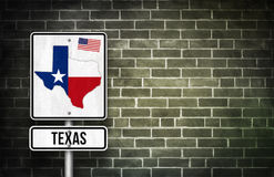 Texas street sign map. Texas street sign - lone star state america Royalty Free Stock Image